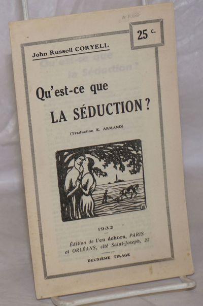 Paris: Édition de l'en dehors, 1932. Pamphlet. Single sheet folded to make an 11p. pamphlet with ...