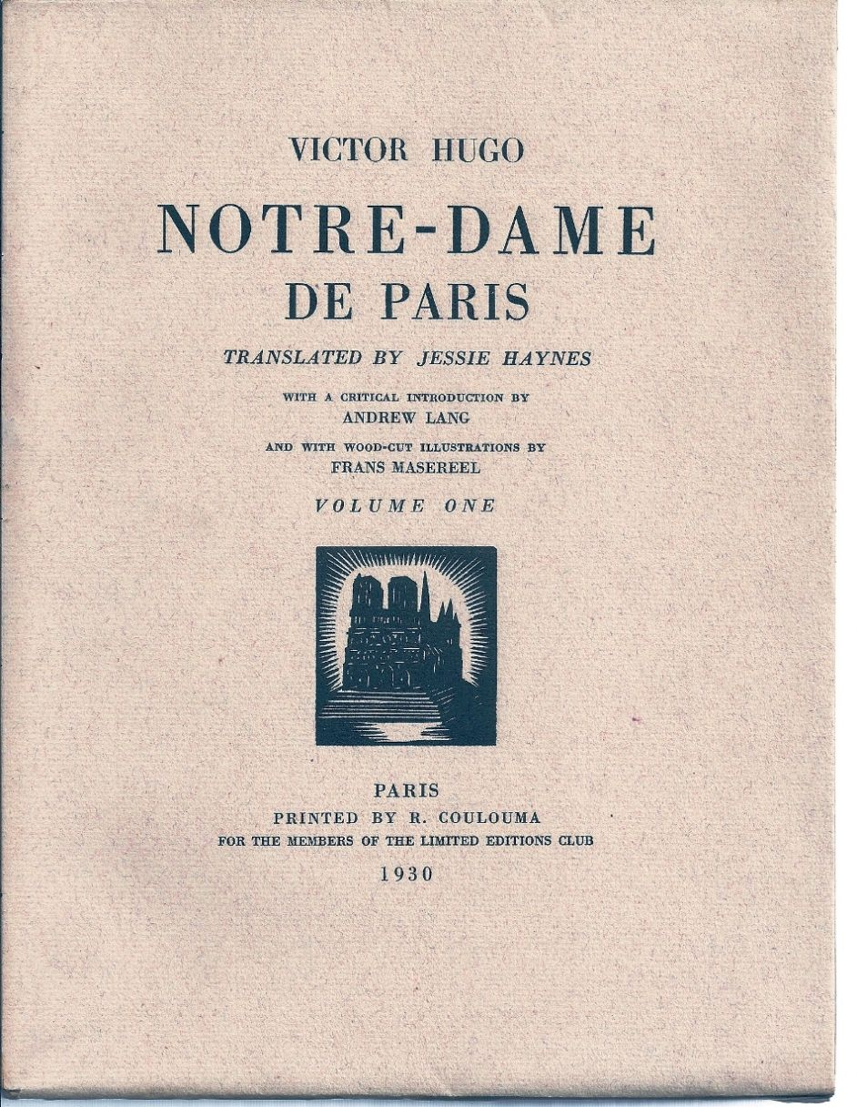 Notre Dame De Paris By Victor Hugo Paperback Signed 1930 From Charles Agvent Sku 017660