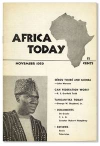 Africa Today, Vol. VI, no. 5, November, 1959