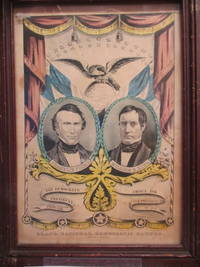 FRANKLIN PIERCE. WILLIAM R. KING. THE DEMOCRATS CHOICE FOR PRESIDENT & VICE PRESIDENT FROM 1853. TO 1857. GRAND, NATIONAL, DEMOCRATIC BANNER. PRESS ONWARD