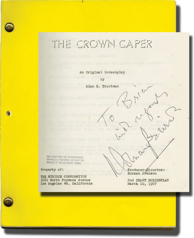 Beverly Hills, CA: United Artists / The Mirisch Corporation, 1967. First Draft script for the 1968 f...