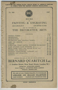 A catalogue of books on painting & engraving, archaeology, architecture, and all branches of the decorative arts.
