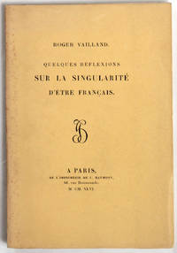 Quelques réflexions sur la singularité d'être français.