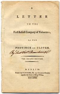 image of A Letter to the First Belfast Company of Volunteers, in the Province of Ulster