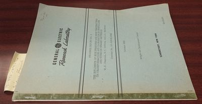 Schenectady, New York: Research Laboratory, General Electric Company, October 1959. First Edition. S...
