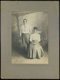 CABINET CARD PHOTOGRAPH OF SERIOUS YOUNG COUPLE