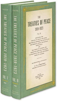 The Treaties of Peace, 1919-1923. Maps Compiled Especially for This..
