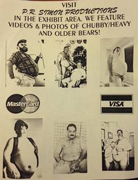 image of Visit P.R. Simon Productions in the exhibit area. We feature videos_photos of chubby / heavy and older bears! [handbill]