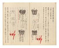 "Finely illustrated manuscript on paper entitled on label on upper wrapper ""Naniwa [or] Nanba honetsugi hiden"" [""Secret Methods of Osaka Area Orthopedic External Medicine""]"