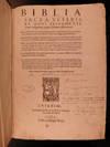 Biblia sacra Veteris et Noui Testamenti, iuxta vulgatam