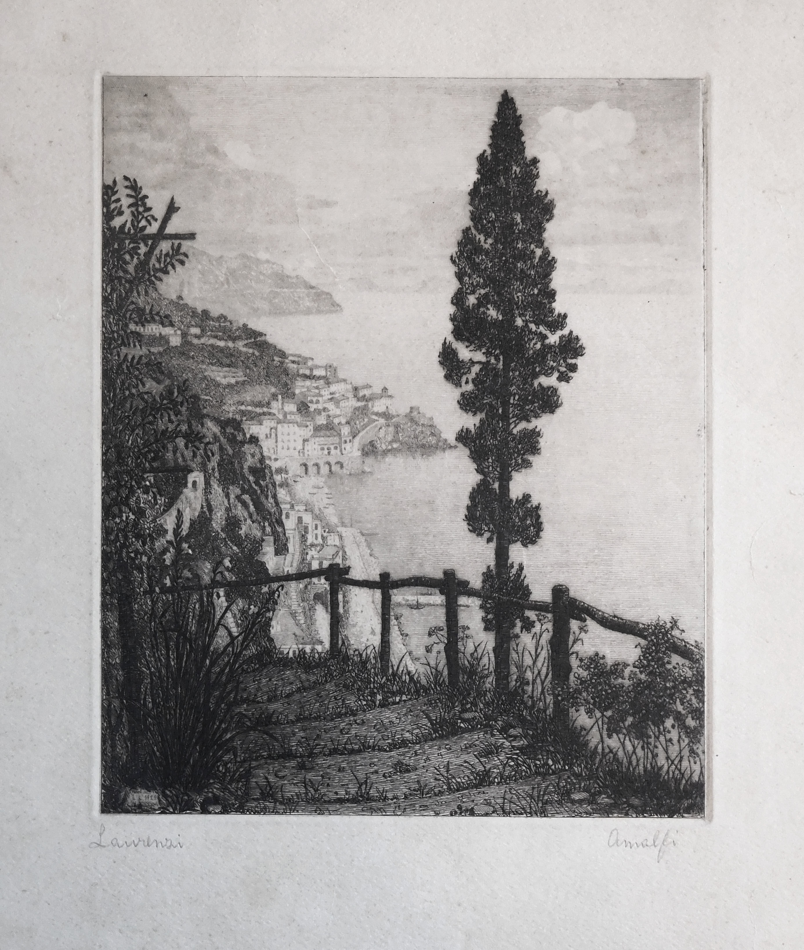 Original etching titled Italianate signed by artist