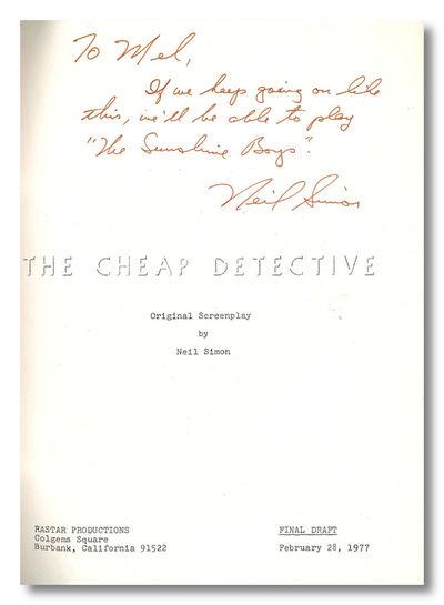 Burbank: Rastar Productions, 1977. ,136 leaves. Quarto. Mimeographed typescript, printed on rectos o...