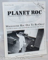image of Planet Roc: the monthly newsletter of Wholesom Roc Gallery, Museum & Cafe; vol. 2, #6, June 1990: Wholesome Roc Due to Re-Open! and Art, Poetry & Music from behind prison walls