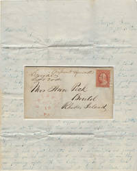 Letter from the son of a Texas pioneer sent to a sister in Rhode Island which includes information about the construction of Gonzales College; franked with a scarce  3-cent Washington stamp (Scott #10A)
