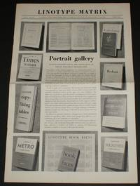 """Linotype Matrix - Issue Number 13, Spring 1952. """"A Journal Published from Time to Time by Linotype and Machinery Limited"""
