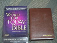 The Word for Today Bible-Brown Leather
