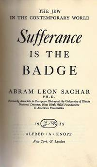 THE JEW IN THE CONTEMPORARY WORLD: SUFFERANCE IS THE BADGE.