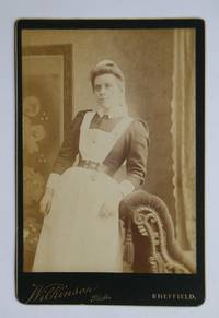 Cabinet Photograph: A Portrait of a Female Domestic Servant/Maid Wearing an Apron.