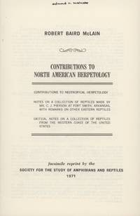 Contributions to North American Herpetology