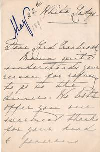 Autograph letter signed 'Victoria Mary of Teck' to 'Dear Lord Cranbrook' (of Teck, 1867-1953, Queen of George V) by MARY - from Sophie Dupre and Biblio.com