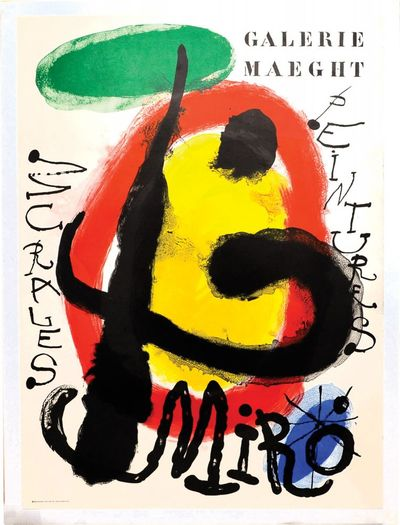 Paris: Arte Adrien Maeght, 1961. Original lithograph by Joan Miro, one of an unknown number of copie...