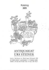 Katalog 223/dezember 1998 :deutsche Literatur, Weltliteratur, ...Kunst,...  Zürich...