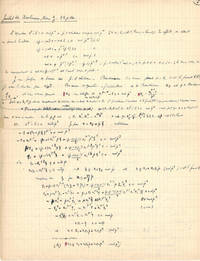 [NUMBER THEORY -MANUSCRIPT & OFF PRINTS].