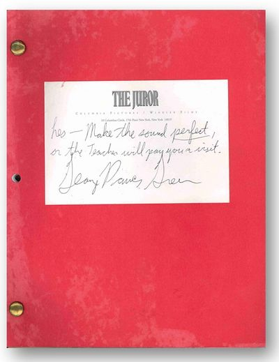 New York: Columbia Pictures, 1995. ,119 leaves plus many, many lettered inserts. Quarto. Photomechan...