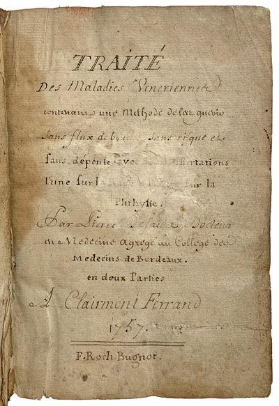 [Manuscript] Traite des Maladies...