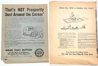 [Two handbills urging members to donate to the UAW's political action committee]