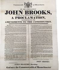 1821 Massachusetts Constitutional Amendments Broadside Announces Universal Manhood Suffrage and Protects Voting Rights For African-Americans