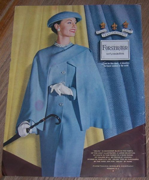 Image for 1956 FORSTMANN VIRGIN WOOL LIFE MAGAZINE COLOR ADVERTISEMENT