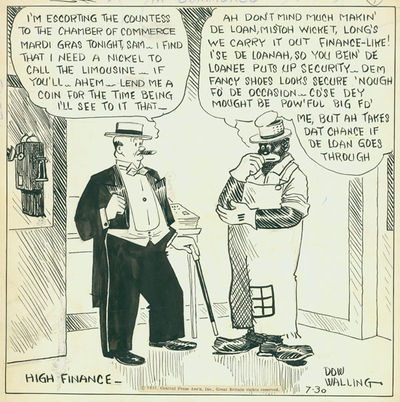 n.p.: The Central Press Association, 1931. The cartoon, titled