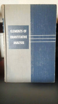 image of Elements of Quantitative Analysis - Theory and Practice