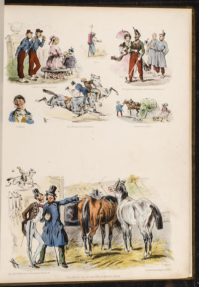 Paris: Hautecoeur Frères, 1840. Parisian and Country Tribulations The Humorous Side of Distress, Tr...