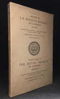 Memoires de la Societe Royale du Canada; Troisieme Serie--Tome XXXV--Section I Seance de Mai, 1941 / Transactions of the Royal Society of Canada Section II; Third Series--Volume XXXV--Section II Meeting of May, 1941