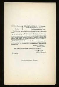 Washington: Adjutant General's Office, 1893. Unbound. Fine. May 3, 1893 issue. Unbound single sheet;...