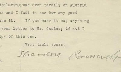 31/01/1918. Theodore Roosevelt When World War I broke out in Europe in 1914, many Americans strongly...