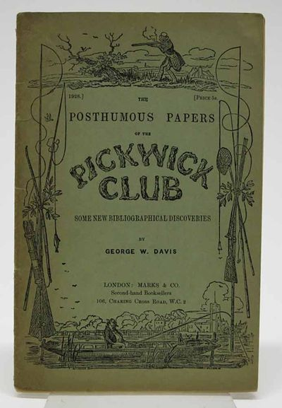 London: Marks & Co, 1928. 1st ed. Green wrappers. VG+ (browning at spine).. 20 pp, 8vo.