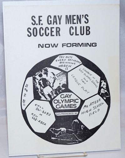 San Francisco: the Club, 1982. 8.5x11 inch handbill, very good but for faint toning to right edge ar...