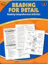 Reading Comprehension Book, Reading for Detail, Reading Levels 3.5-5.0