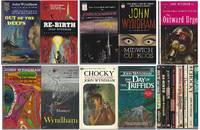 """JOHN WYNDHAM"" FIRST BALLANTINE PRINTINGS: Out of the Deeps (aka The Kraken Wakes) / Re-Birth (aka The Chrysalids) / Tales of Gooseflesh and Laughter / Midwich Cuckoos / Outward Urge / Trouble with Lichen / Infinite Moment / Chocky / Day of the Triffids"