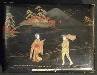 image of Japanese Postcard Album with Lacquered Cover and Hand-Colored Real Photo Postcards
