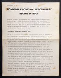 Condemn Khomeini's Reactionary Regime in Iran [handbill]