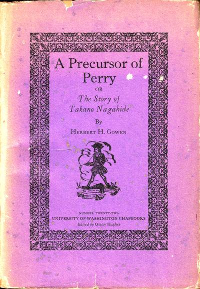 Seattle: University of Washington Press , 1928. Paperback. Very good. 45pp. Very good paperback in i...