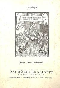 Catalogue 76/n.d.: Recht - Staat - Wirstschaft.