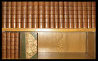 THE COMPLETE WORKS OF WILLIAM MAKEPEACE THACKERAY. Bound in fine leather. First Collected...