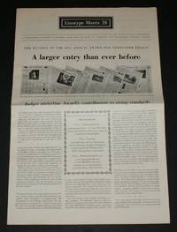 "Linotype Matrix 28 ""A Journal Published from Time to Time by Linotype and Machinery Limited"
