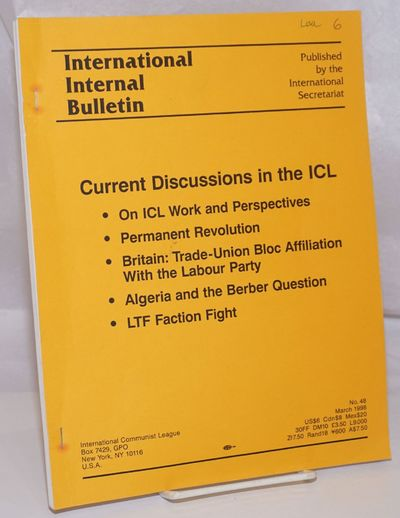 New York: International Secretariat, 1998. 150p., stapled wraps, 8.5x11 inches, lightly worn, previo...