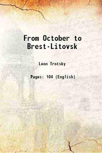 image of From October to Brest-Litovsk [Hardcover]
